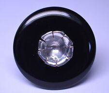 """HUGE HEAVY MODERNIST STERLING SILVER 1.5"""" CIRCLE ONYX RING SIZE 4.25 SIGNED CR"""