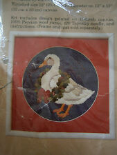 NIP Vintage 1986 Holly Duck Wreath Country Crewel Embroidery Kit Persian Wool