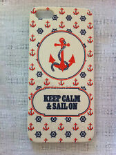 Vintage Voyage (Keep Calm & Sail On - Anchor & Steering Wheel) iPhone 5 5s Case