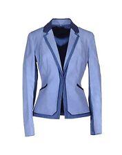 NWT Elie Tahari Contrast Trim Tallen Jacket Blazer Mood Blue Size 0 $468