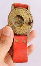 Brass Hand watch Wrist watch compass  Rustic Engraved Handmade Gifts Item.