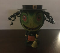 Dept 56 Glitter Witch Tea Light Candle Holder Halloween