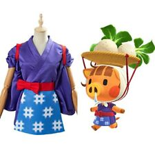 Animal Crossing Daisy Mae Cosplay Costume Women Kimono Outfit Dress