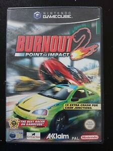 Burnout 2 Point of Impact Nintendo Gamecube Game Cube PAL Wii CIB COMPLETE