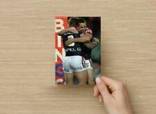 POSTCARD Print / Rugby Men Hug Bubble Butt / Gay Interest