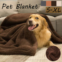 Pet Blanket Dog Cat Rug Puppy Washable Soft Cosy Warmth Cotton Fleece Bed Throw