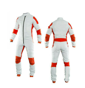 Skydiving Jump Suit Orange and white premium colors Color Customization apply
