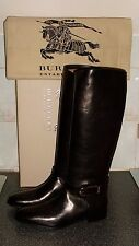 Burberry Women's Black Bridle Leather Winton  Riding Boots UK 6.5/EUR 39.5