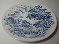 Vintage Blue Countryside Scene Wedgewood & Co China England Bread & Butter Plate