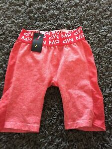 My Protein Women's Curve Cycling Shorts In Red Medium Size