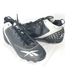 Reebok RBK Baseball Cleats 15 Black Silver