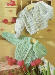 Baby DK Knitting Pattern  Cable  Cardigan Sizes 16-22  inches #241