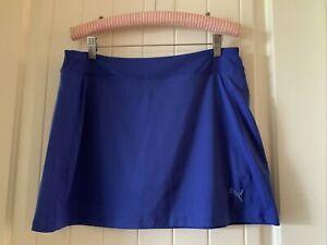 Puma Skirt Women's Size 8 Blue New 887707584657 Solid Active Tennis Golf NWT