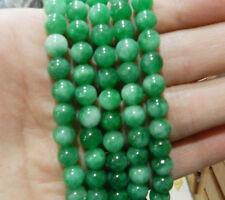 "6mm Natural Green Emerald Gemstones Round Loose Beads 15"" AAA Grade"