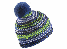 BNWT Adidas Chunky Climawarm Stripe Beanie Blue Stripe Child 51cm/ Youth 54cm
