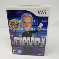 Jeopardy Nintendo Wii Game Complete With Manual Tested