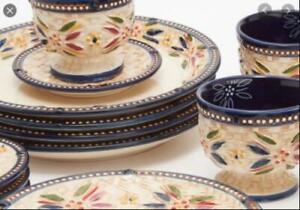 Temp-tations Old World 20-pc Basketweave Dinnerware Set Confetti Color