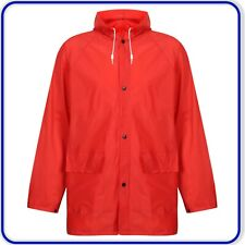 Mens Light weight Rain Coat Hooded Waterproof Mac Popper Fastening Rain Coat