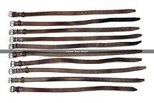 Sangles Militaires Vintage - cuir marron - Lot de 10 PCS
