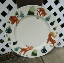 HARTSTONE POTTERY Stoneware Dinner Plate Charger Size Wild Country Buffalo Moose