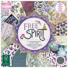 "6"" x 6"" 48 Sheet Full Pad FREE SPIRIT Card Making Scrapbook Craft Backing Paper"