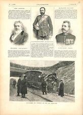 Accident chemin de fer petite ceinture Paris/Lord Frederic Leighton GRAVURE 1896