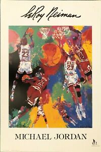 LEROY NEIMAN • Authentic Michael Jordan Limited Production Run Poster