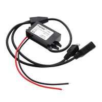 Mini USB +USB DC to DC Auto Car Vehicle Power Supply Adapter Converter Cable