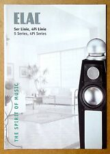 ELAC ~ 5 & 4Pi Series Speaker Loudspeaker 518 516 512 510 ~VTG Brochure Catalog