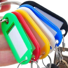 50Pcs Keychain ID Tags Name Card Label Language Travel Carrirr Case Bag tags New