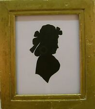 SILHOUETTES A  LADY OF THE BRIGHT FAMILY ENGLISH SCHOOL C1800