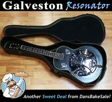 Galveston Resonator Guitar w/ Built in Graphic EQ, New Strings &  Free Hard Case