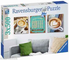 RAVENSBURGER 19919 PAUSA CAFE Coffee Time PUZZLE 3 x 500 PIEZAS JIGSAW PUZZLE