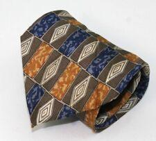 DOMANI  100% Silk Men's Tie  gold  blue  Made in Italy