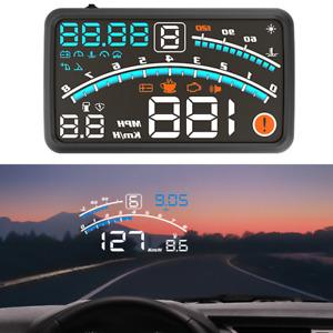 "Universal 5.5"" OBD2 Car HUD Head Up Display Overspeed Warning System Plug & Play"