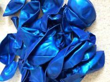30x Metallic Blue Balloons Party