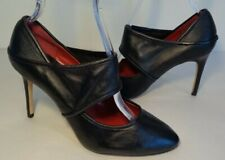 Max Studio Size 8 M LESPOS Black Leather Mary Jane Heels Pumps New Womens Shoes
