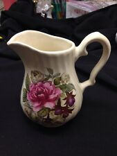 """Royal Caldone Ceracraft Cabbage Roses 20 oz. (2 1/2 Cup) 5 7/8"""" Pitcher EXCELLEN"""