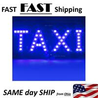 taxi sign - visual blue taxi cab LED sign