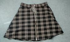 New Look Petite Black Check Zip Skirt Size 6