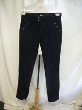 "Ladies Trousers DOLCE & GABBANA black corduroy waist 30"" ins.leg 32"" skinny 0344"