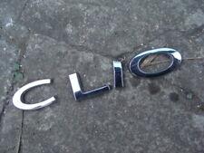 RENAULT CLIO LETTERS 2010