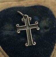 Vintage Sterling Silver Necklace 925 Pendant Charm Cross