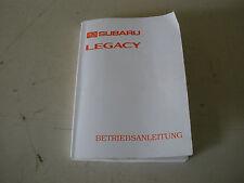= Subaru Legacy  II  - Betriebsanleitung =