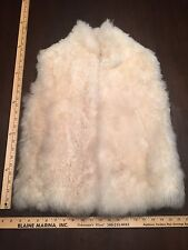 Furry Alpaca Vest Sweater Coat XS/S Pure Accent