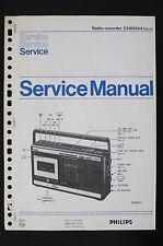 PHILIPS Radio Registratore 22AR284 Originale Manuale servizio/Manuale/
