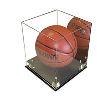 Deluxe Acrylic Full Size Basketball Display Case Stand, UV protection (with Mirr