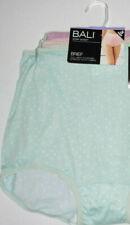 3 Bali Brief Skimp Skamp Panty Set Nylon 2633 Back Seam 10 3X Pink Green Dots