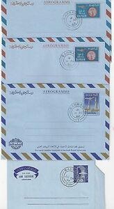 BAHRAIN 1966 69 FOUR DIFFERENT AIR LETTERS WITH FDC CANCELS FG 12 13 14 & 15
