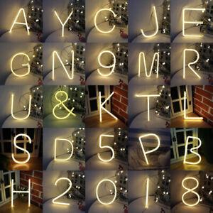LED NEON Buchstabe Licht Leuchtbuchstabe Deko Nachtlicht Lampe Name Alphabet